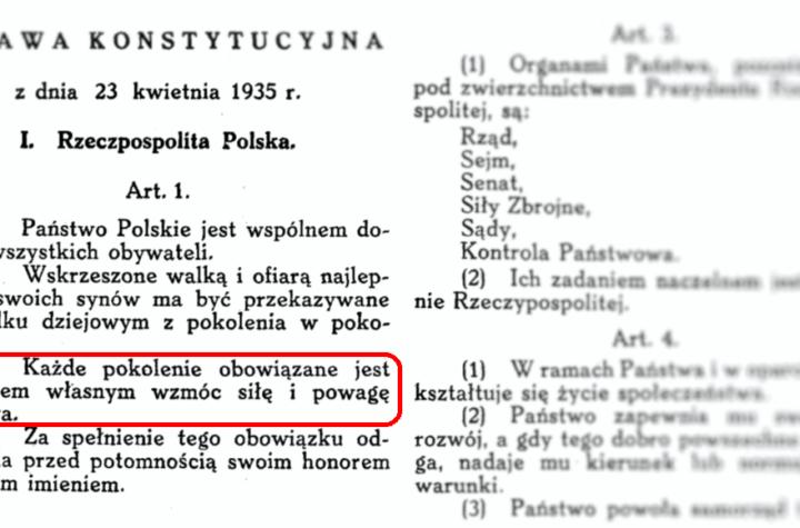 Konstytucja RP z dn. 23 kwietnia 1935 r., art. 1