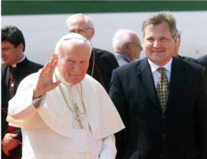 Jan Paweł II i Aleksander Kwaśniewski