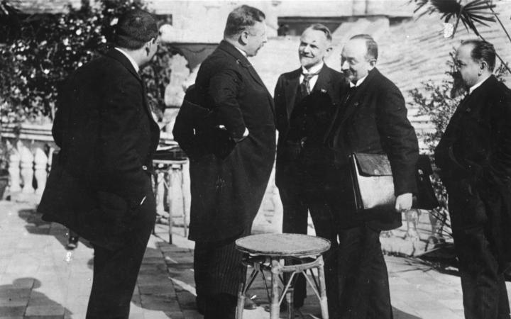 Podpisanie układu w Rapallo, 16 kwietnia 1922 r.