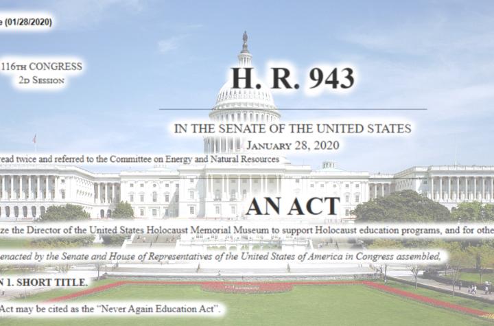 Siedziba Kongresu z treścią H.R. 943