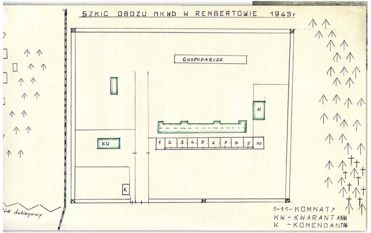 Plan Obozu NKWD w Rembertowie