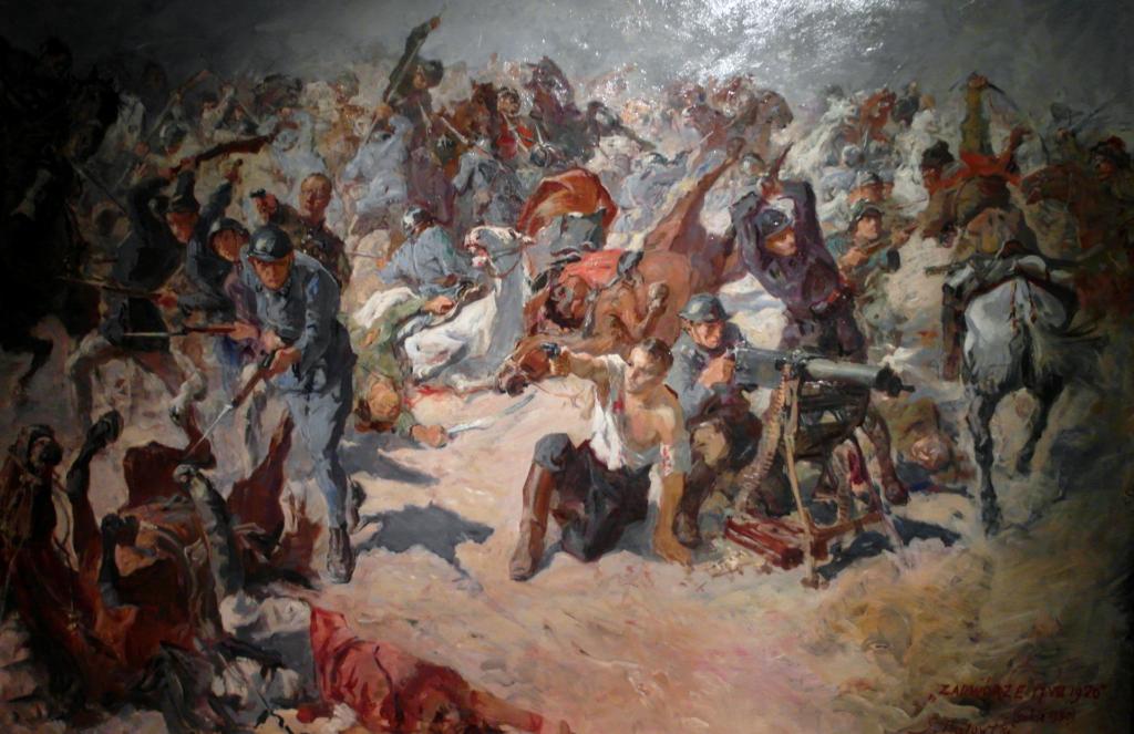 Bój pod Zadwórzem, obraz Stanisława Kaczora-Batowskiego z 1929 roku